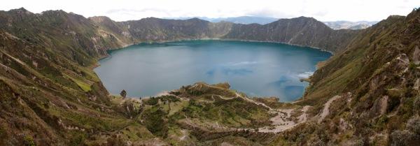 Panorama of the crater and Laguna Quilatoa.