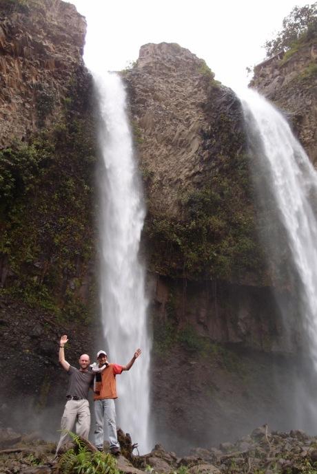 Freddy and I at the base of the Manto de la Novia waterfalls.