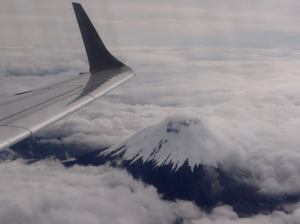 Flying over Volcán Cotopaxi (19,347ft / 5,897m).