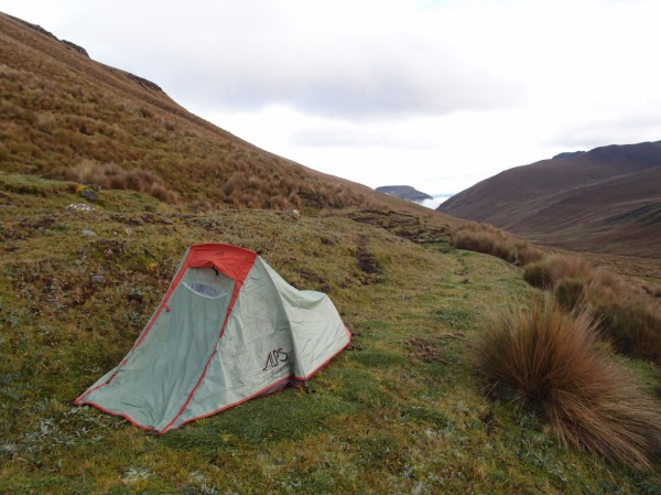 Camping near the Laguna de las Tres Cruces at about 13,000ft / 4,000m.