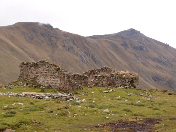 The Incan ruins of Paredones, only accessible by foot via the Inca Trail.