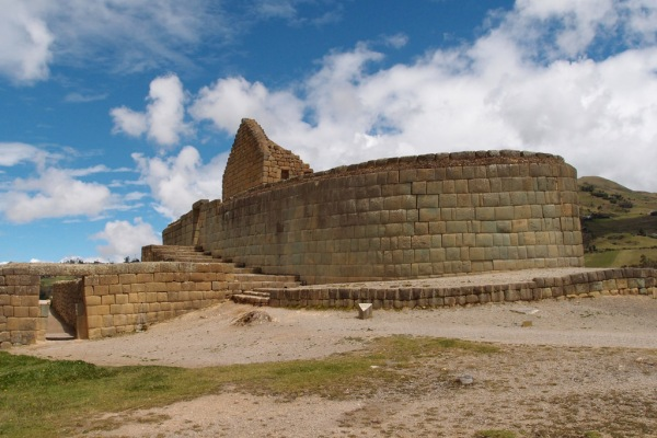 The Temple of the Sun at Ingapirca.