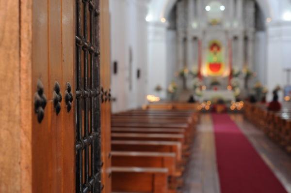 Inside San Vicente Mártir de Latacunga.
