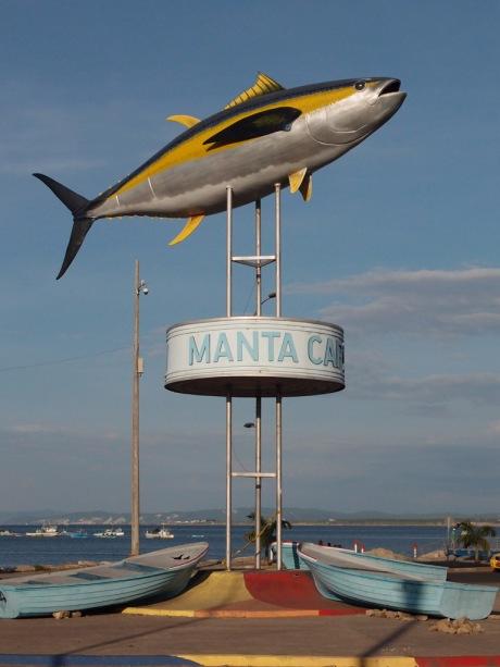 Commemorating Manta's tuna fish exports.