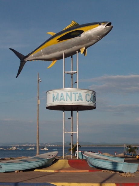 Commemorating Manta's tuna fish exports.