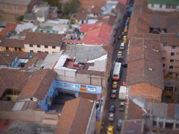 Quito's historic streets in miniature.