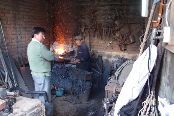 Blacksmith shop.