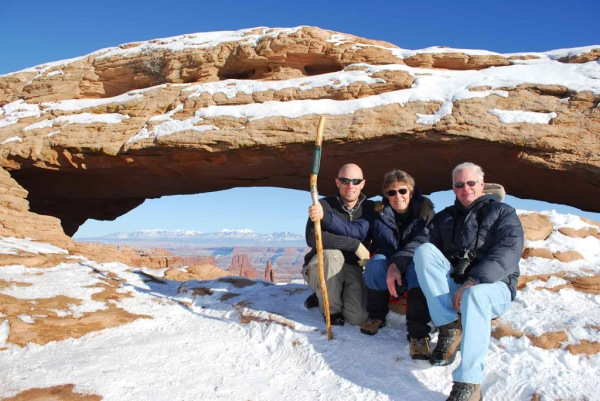 The same spot during our last trip to Canyonlands several years ago. Was a bit colder that time!