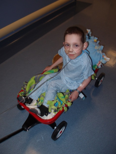 Tayt in his limousine on the way to yet another surgery.