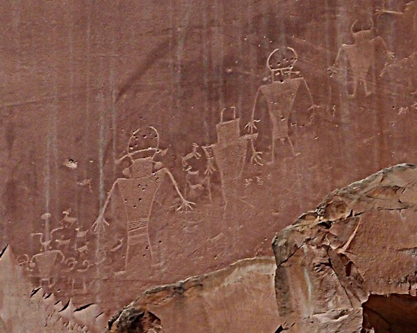 Petroglyphs from the Freemont Indians, believed to be about 1,000 years old.