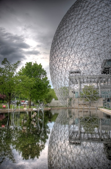 The entrance to the Montreal Biosphere. - HDR Composite
