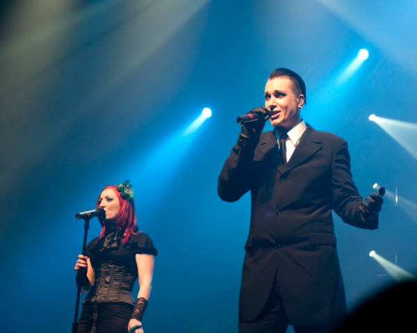 Blutengel begins their set as part of their first North American tour.
