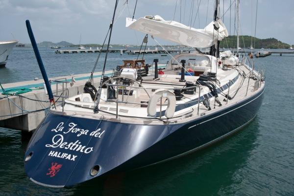 La Forza ready to sail north.