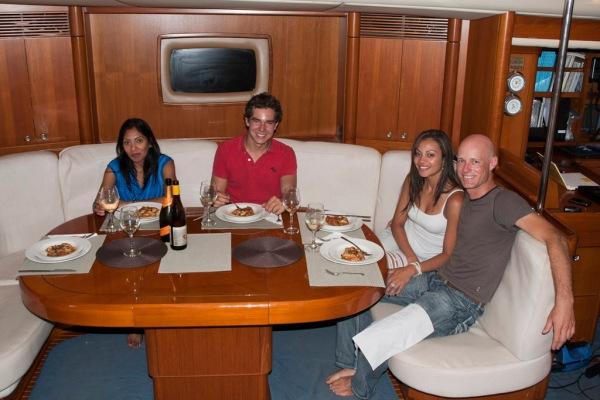 A gourmet dinner for my friend Gisele and the La Forza crew.