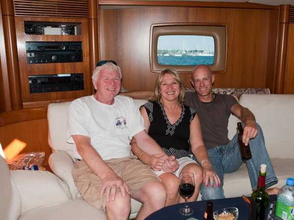 Lunch aboard with my Aunt Marge and Charles.