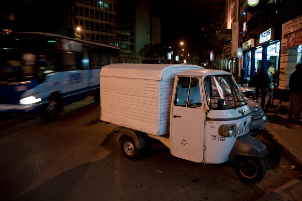 The light on this tuktuk (three-wheeled vehicle) cooperated all right though.