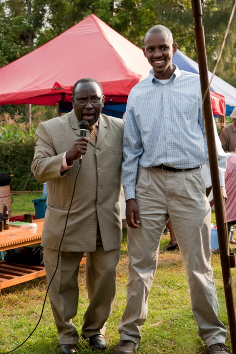 I'm not sure what this pastor was saying, but Brian was smiling and most of the crowd was laughing! Perhaps it was something about the muzungu in the audience!