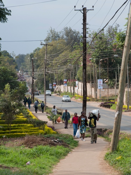 Looking down Ole Dume Road, part of our daily walk between our apartment, Maito's house, and Ngong Road to catch a matatu.