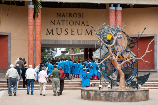The Nairobi National Museum in case the sign on the front of the building didn't give it away.