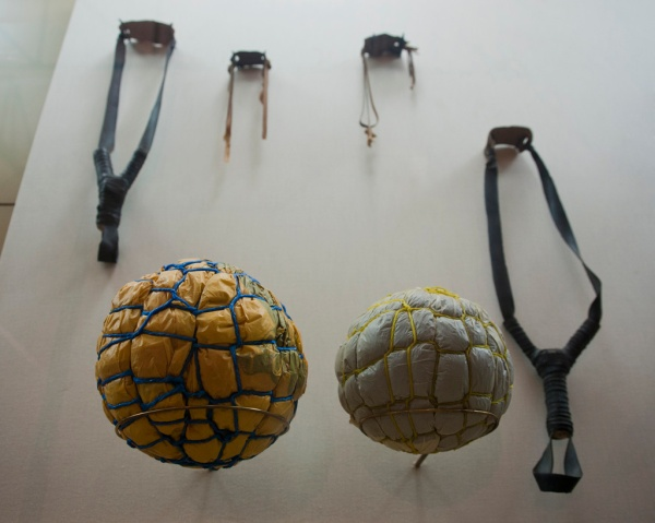 A great exhibit on the resourcefulness of rural youth, including sling shots and soccer balls made from old plastic bags and twine.