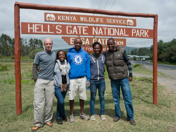 Me, Christine (and Tristan), Ben, Victor, and Brian at our destination.