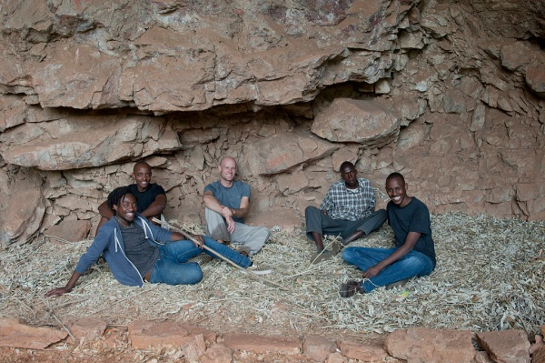 Victor, Ben, me, Joseph, and Brian inside the cave.