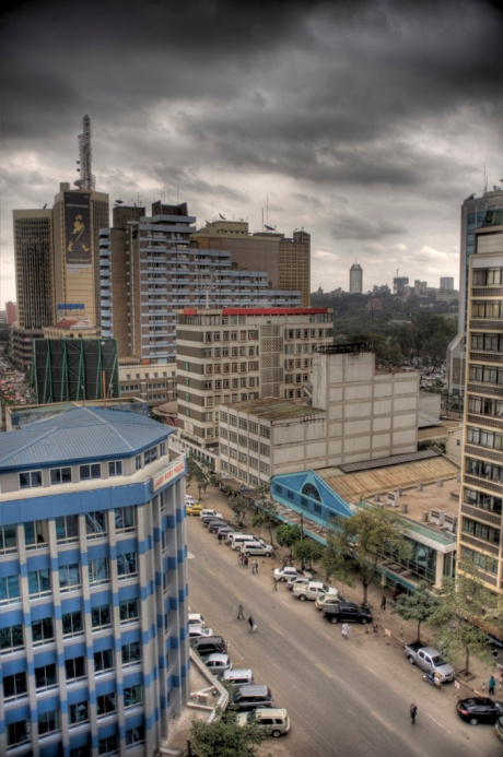 Nairobi from the offices of Bonfire Adventures, where Brian and Christine organized their honeymoon and our safari - HDR Composite