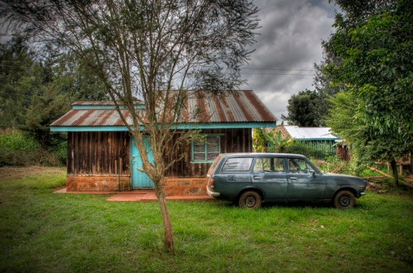 Near the Ruracio in Nyeri, about a two-hour drive north of Nairobi - HDR Composite