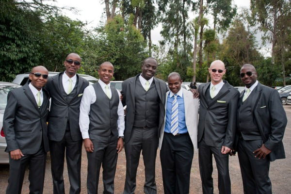 The groomsmen lookin' on point. Charles, Ben, Gachanja, Steve Biko, Uncle Gikiri, me, and Steve. - Photo by Eugenia.