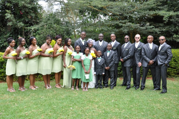 The wedding party. - Photo by JoeLink Media