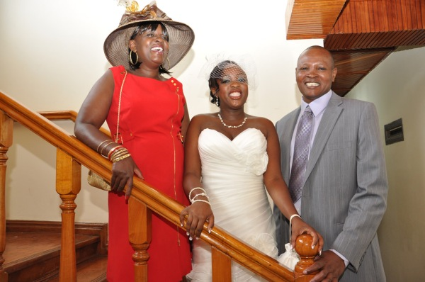 Christine and her parents Elizabeth Wanjiru and Kiruthu. - Photo by JoeLink Media