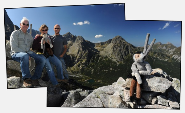 Family portrait on the summit of Veľká Svišťovka (2,037 m - 6,683 ft).
