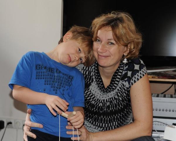 Jiřina and Martin. (Photo taken during last year's visit.)
