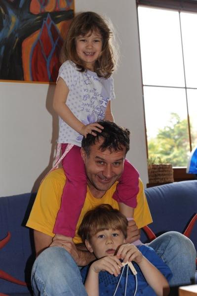 Miloš, Martin and Magdalena (Photo taken during last year's visit.)