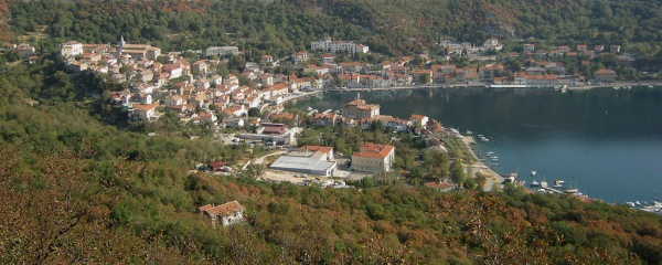 The port of Bakar, about 10 km (6 mi) south of Rijeka.