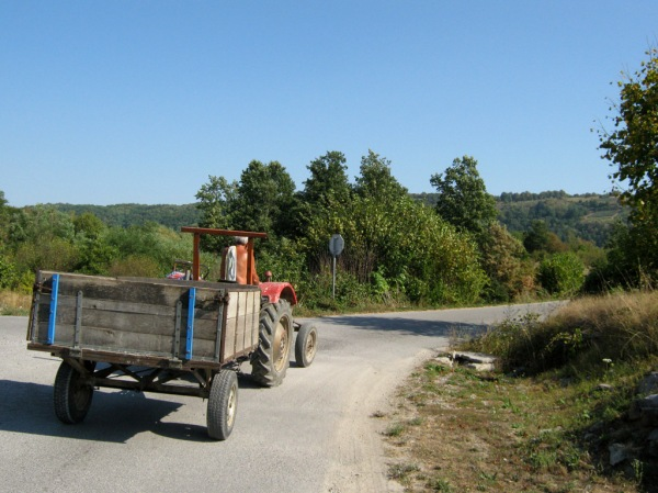 Who needs GPS when the locals are willing to lead your in the right direction with the help of their tractors!?