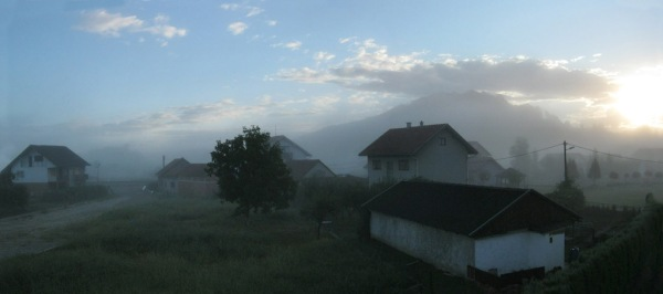 Morning mist in Zabok.