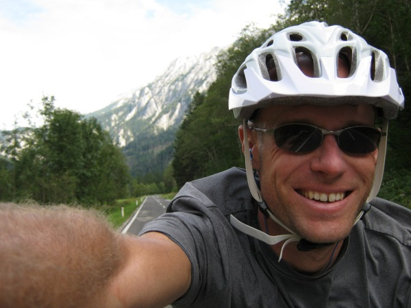 This is what coasting down a perfectly paved highway in the Alps alongside a roaring river feels like!