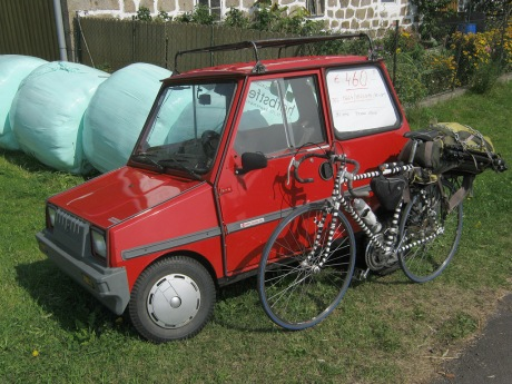 I considered buying this Casalini Sulky SP 50 for €460 but realized Punda Milia actually had more carrying capacity and likely a higher top speed (at least as long as I'd had my coffee).