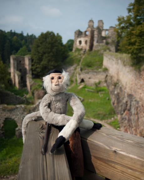 When Tristan woke up and realized he was in Europe he of course wanted his picture at some enchanted castle, so off we went to the Dívčí Kámen Castle.