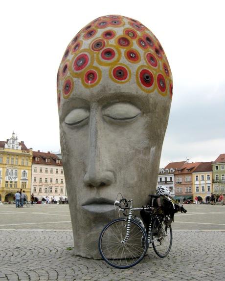 A statue in the České Budějovice town square.
