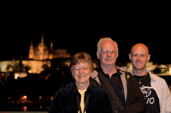 Mom, Dad and I reunited in Prague.