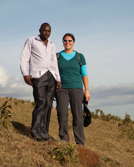 Eugenia and Richard, a farmer we met while hiking.