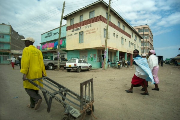 Downtown Naro Moru, about 25 km west of Mt. Kenya.