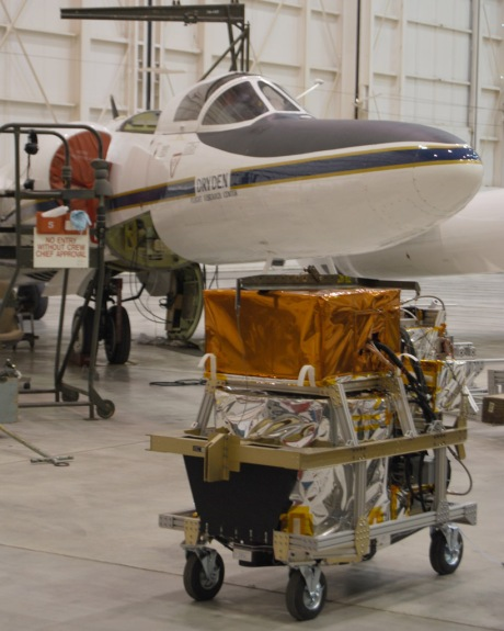 The TWiLiTE instrument and the ER-2 during our first round of engineering test flights at NASA Dryden in 2009.