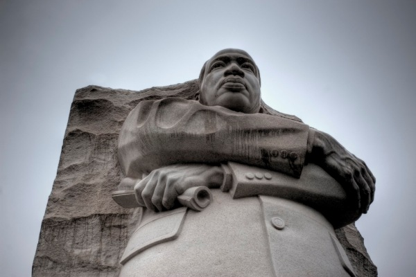 The new Martin Luther King Jr. Memorial on the National Mall.
