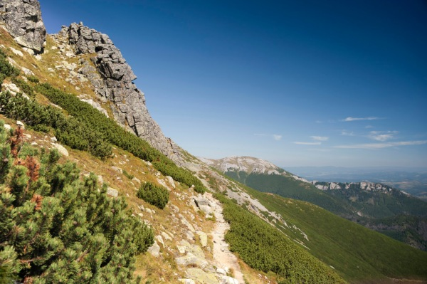 A beautiful day for hiking high in the Tatras.