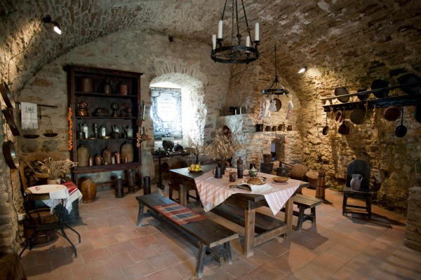 Who knew castles had such nice kitchens!?
