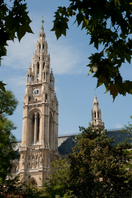 The Rathaus building, which serves as the city hall, in Vienna.