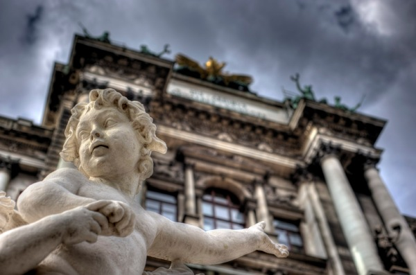 Statues in front of the Neue Burg Wing of the Hofburg Palace. - HDR Composite